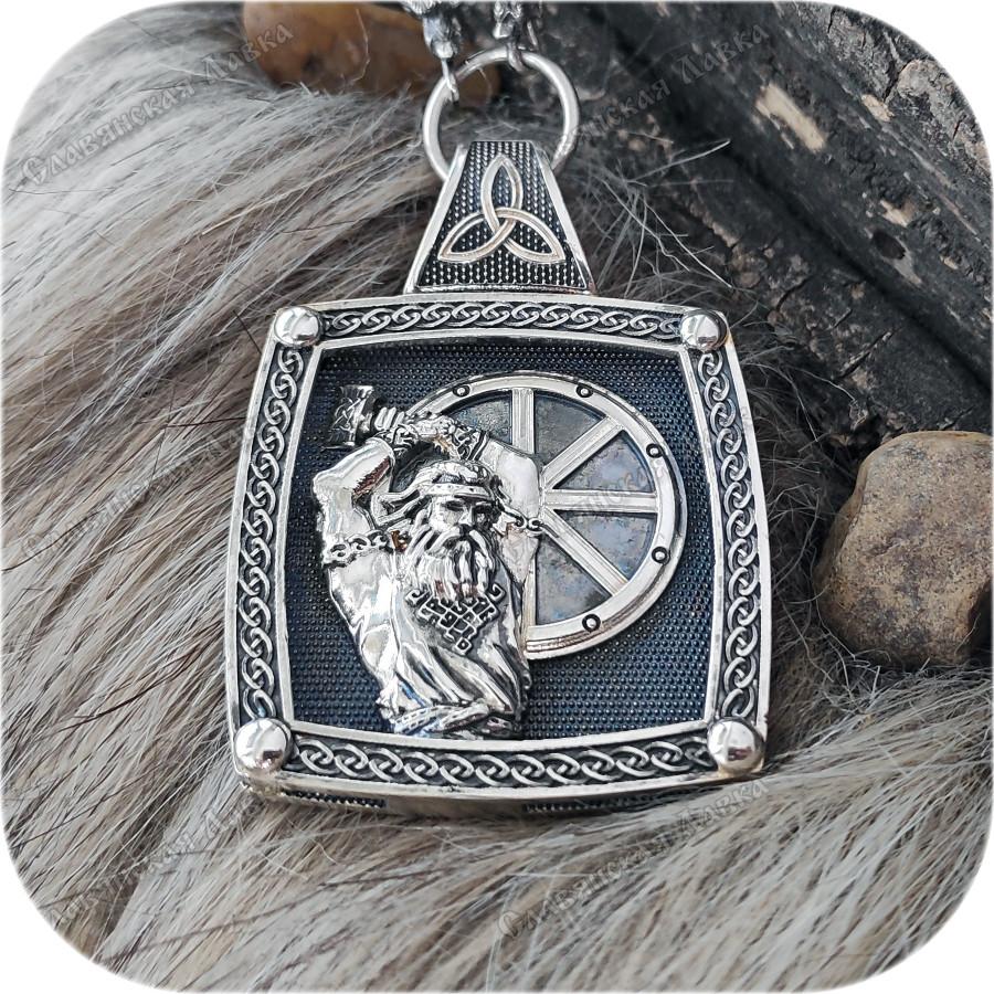 Богатырский серебряный оберег Колесо Сварога